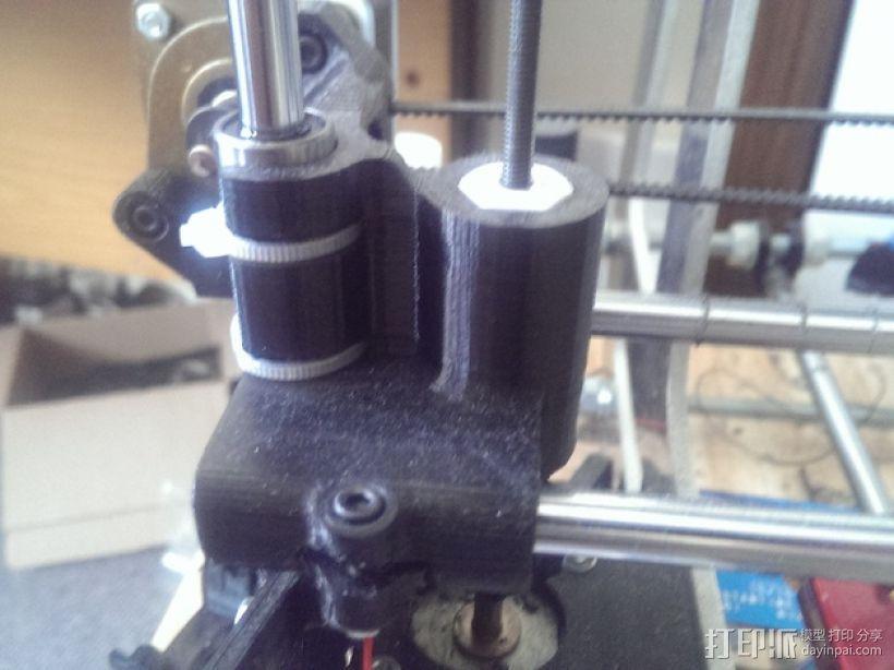 打印机X轴螺母支架 3D模型  图1