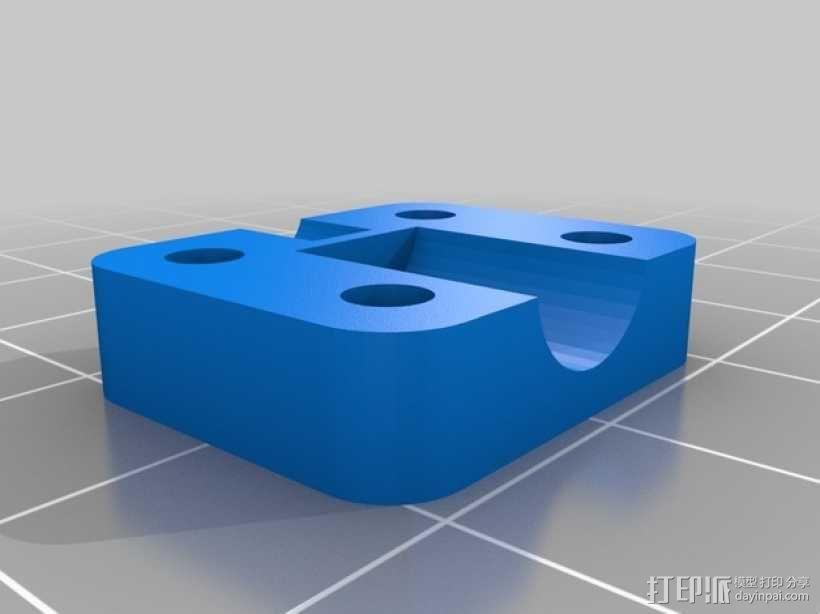 打印机X轴螺母支架 3D模型  图4