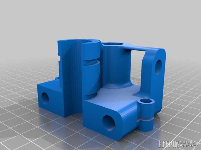 打印机X轴螺母支架 3D模型  图3