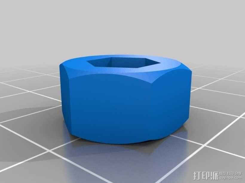 打印机X轴螺母支架 3D模型  图5