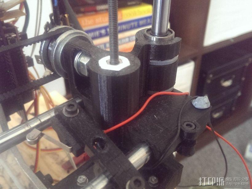 打印机X轴螺母支架 3D模型  图6