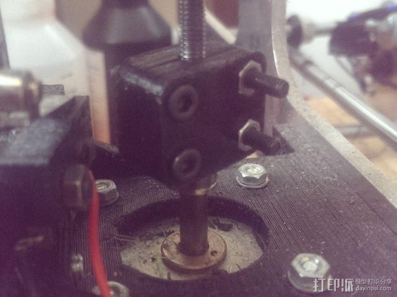 打印机X轴螺母支架 3D模型  图8
