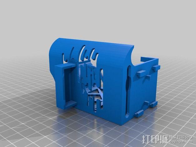 挤出机罩 3D模型  图2