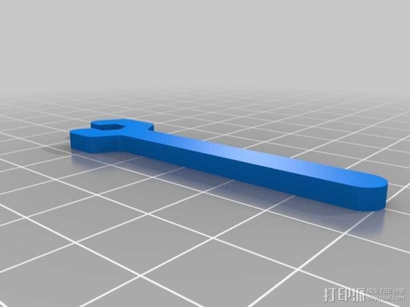 M3扳手 3D模型  图1