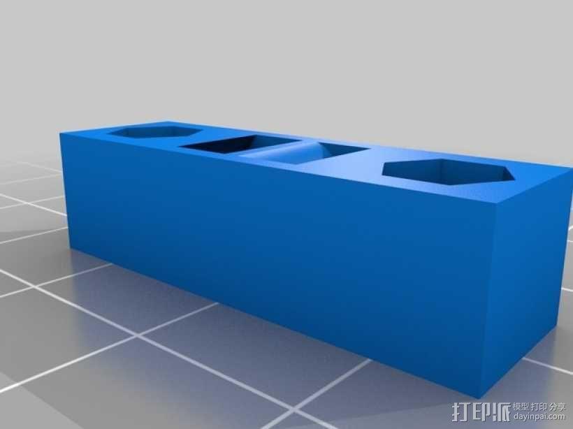 Printrbot Simple打印机Y轴皮带张紧器 3D模型  图1