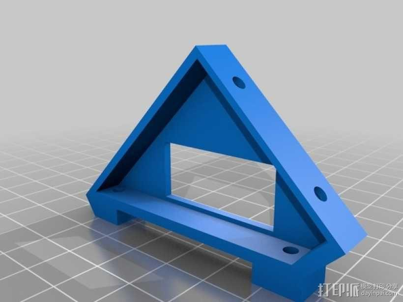 控制器液晶显示屏支架 3D模型  图1