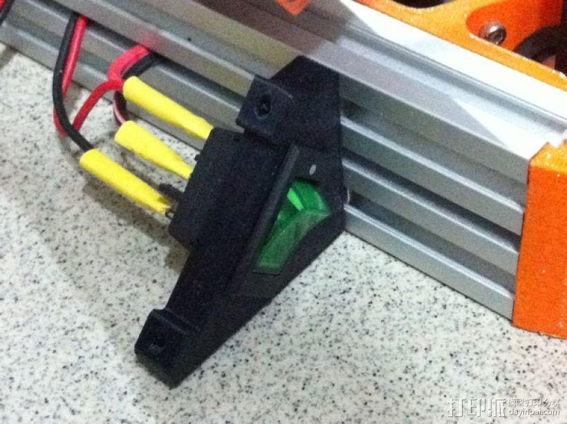 控制器液晶显示屏支架 3D模型  图6