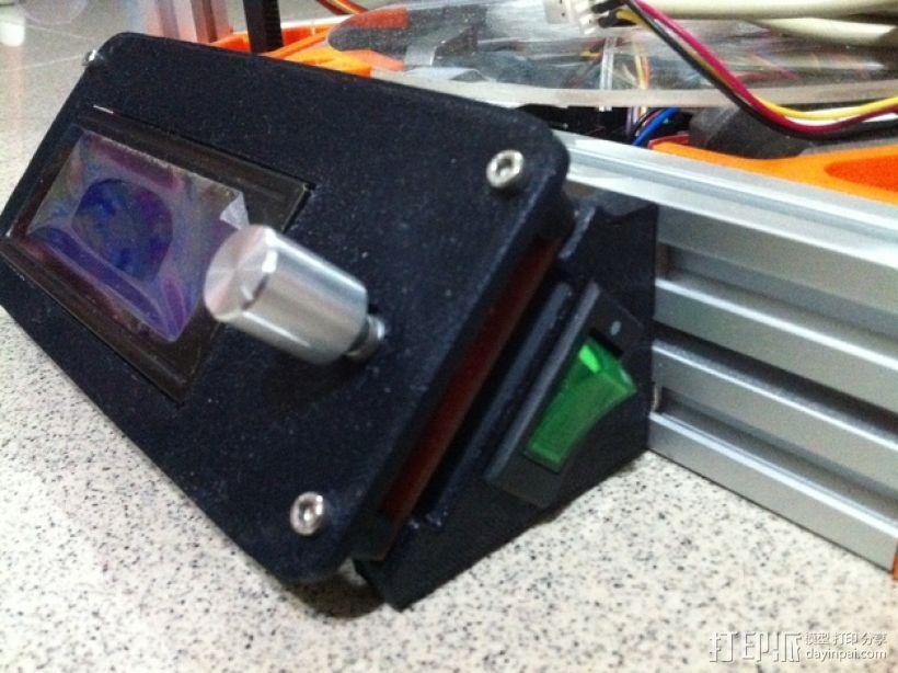 控制器液晶显示屏支架 3D模型  图8