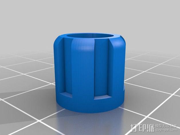 打印床调节旋钮 3D模型  图2