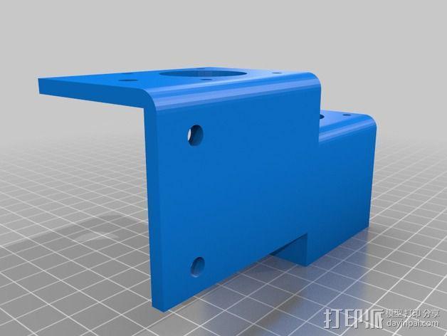 Ez3D Phoenix 3D打印机Z轴马达支架 3D模型  图1