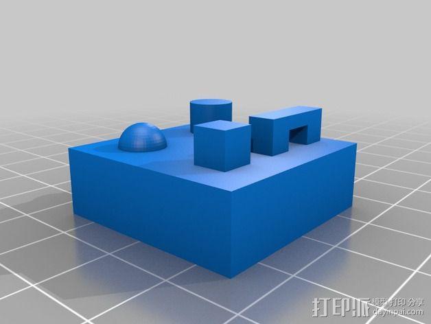 桥梁 半圆 圆柱  正方体 3D模型  图1