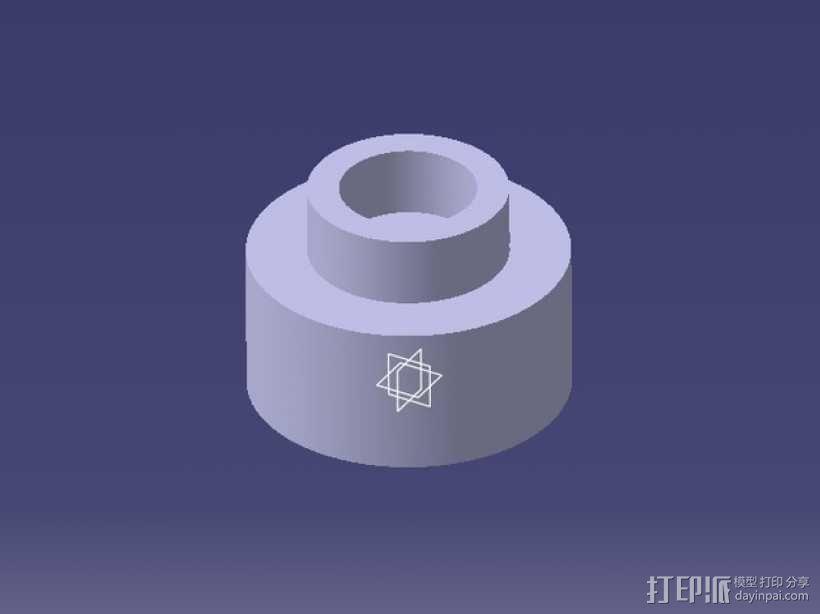 塑料卷纸架 3D模型  图4