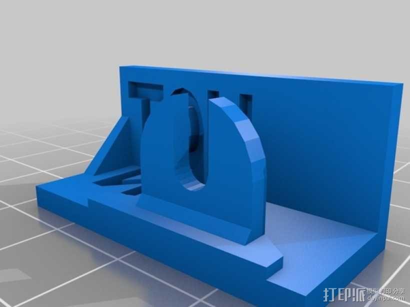 打印机热床指示灯灯罩 3D模型  图1