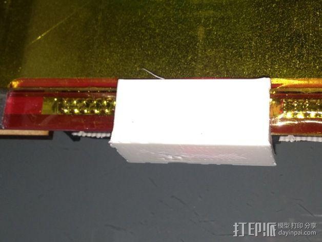 打印机热床指示灯灯罩 3D模型  图2