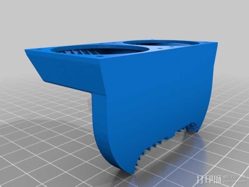 FlashForge Creator Pro 打印机风扇导管 3D模型  图2