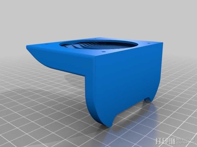 FlashForge Creator Pro 打印机风扇导管 3D模型  图4