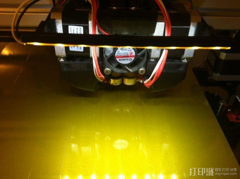 打印机光棒支架 3D模型  图1