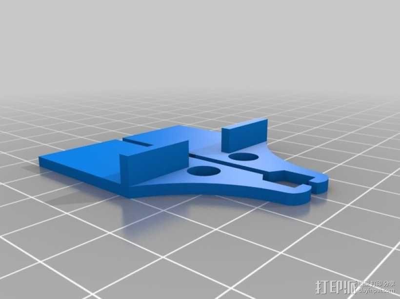 打印机光棒支架 3D模型  图3