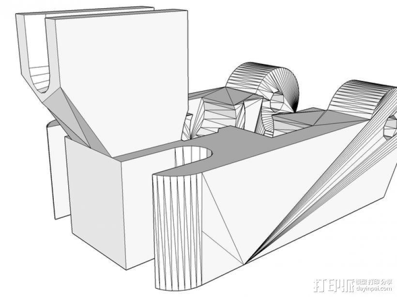 挤出机线材导线器 3D模型  图1