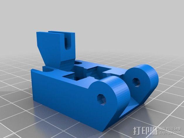 挤出机线材导线器 3D模型  图2