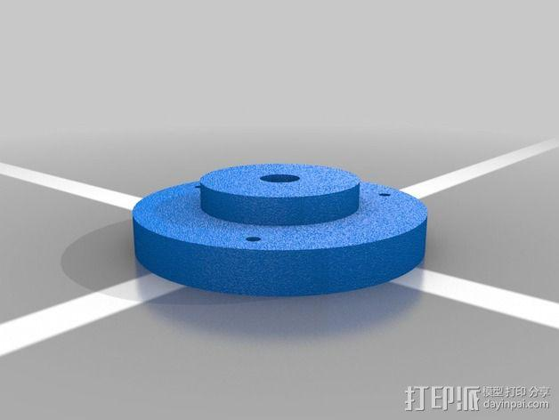 Rostock simple打印机J head喷头支架 3D模型  图2