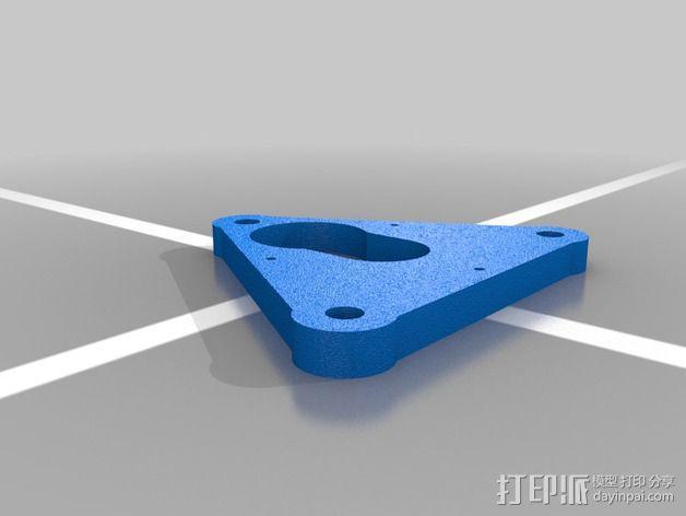 Rostock simple打印机J head喷头支架 3D模型  图3