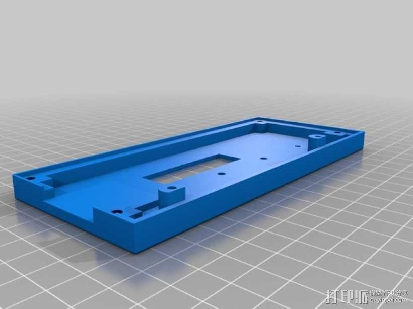 控制器液晶显示屏保护外盒 3D模型  图1