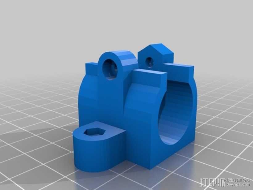 Lm10uu 轴承支架 3D模型  图1