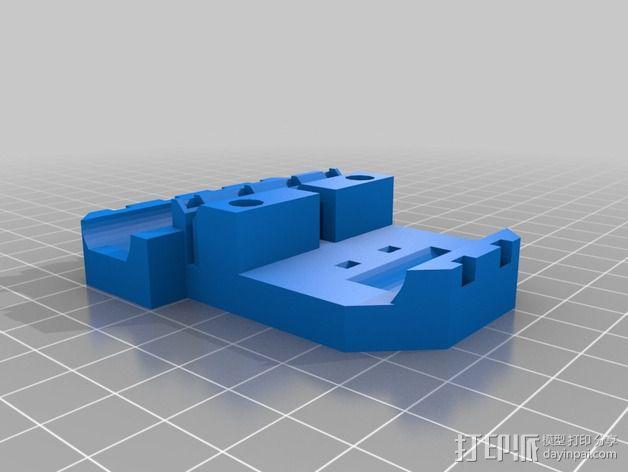 打印机X轴直线驱动挤出机部件 3D模型  图1