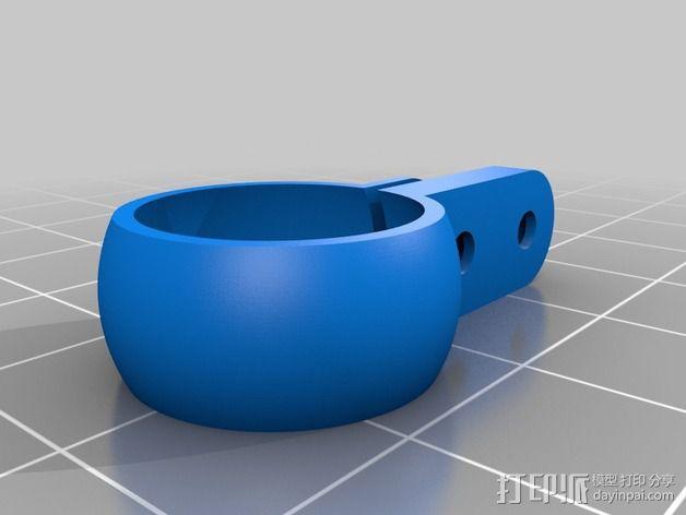 球形接头固定夹 3D模型  图2