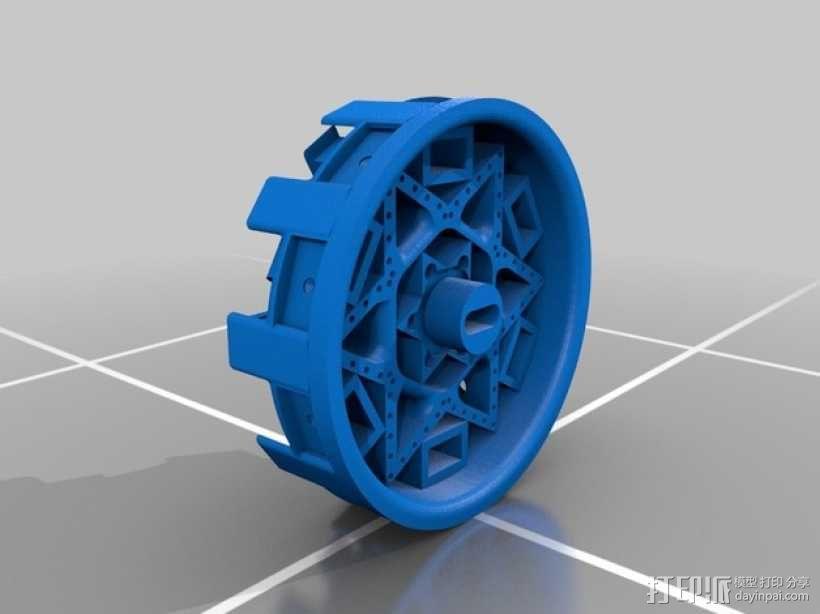 机器人 艺术轮 3D模型  图1
