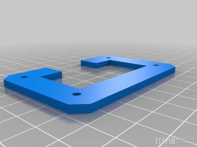 Rigidbot打印机后部电源支架外框 3D模型  图2