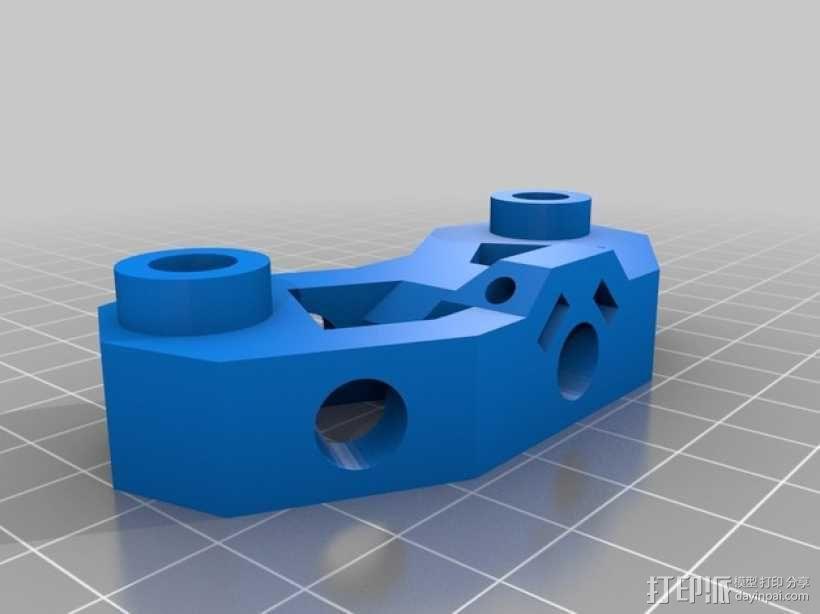 Mendel打印机接合器 3D模型  图1