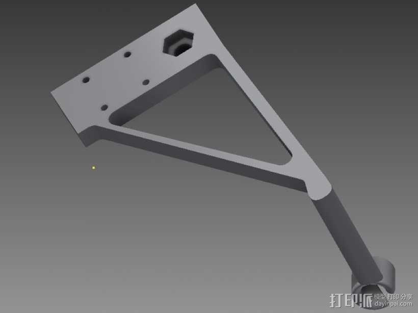 线支撑架 3D模型  图1