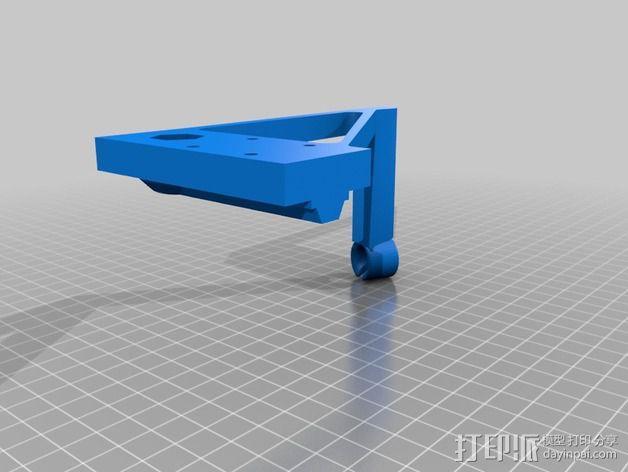 线支撑架 3D模型  图2