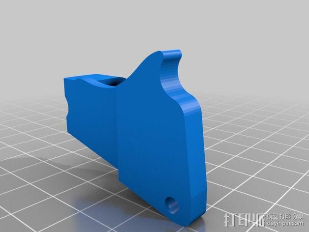 线支撑架 3D模型  图3