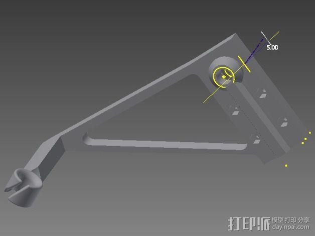 线支撑架 3D模型  图10