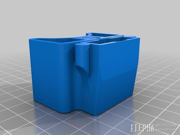 电源插头盖板  3D模型  图2