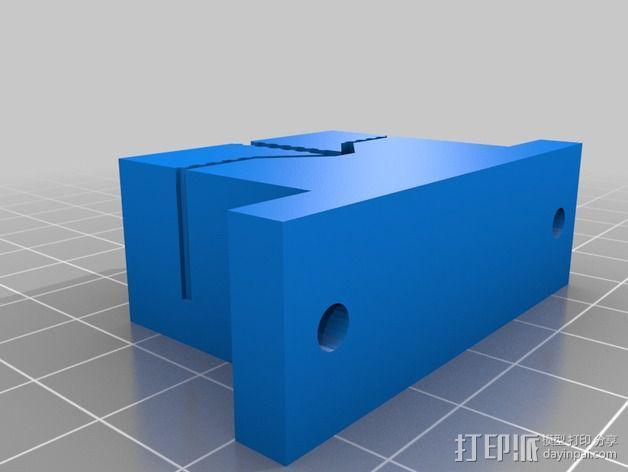 打印机Y轴皮带支架 3D模型  图2