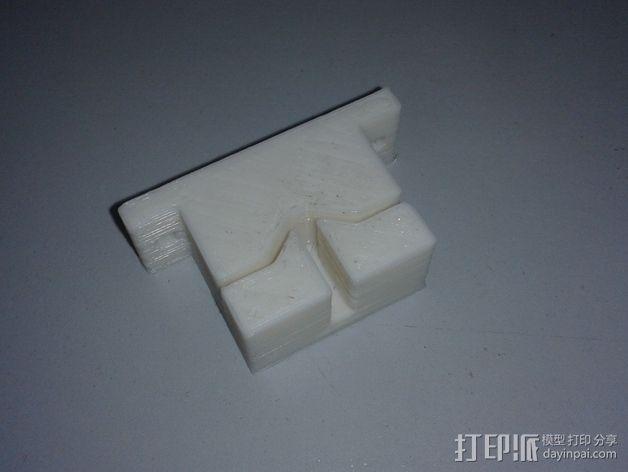 打印机Y轴皮带支架 3D模型  图5
