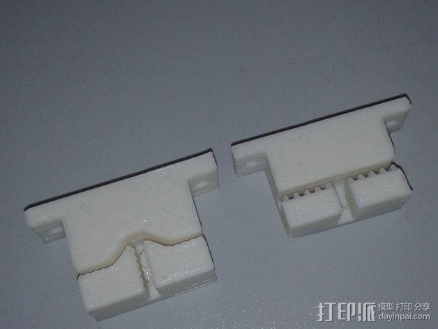 打印机Y轴皮带支架 3D模型  图6