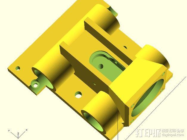 J-Head喷头支架 风扇支架 3D模型  图3