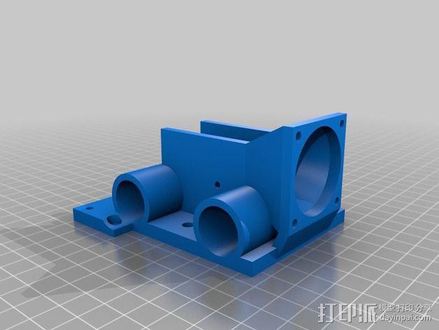J-Head喷头支架 风扇支架 3D模型  图2
