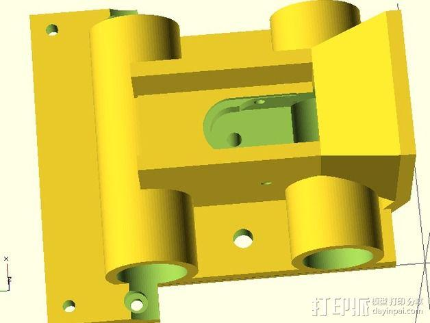 J-Head喷头支架 风扇支架 3D模型  图4