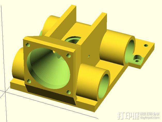 J-Head喷头支架 风扇支架 3D模型  图5