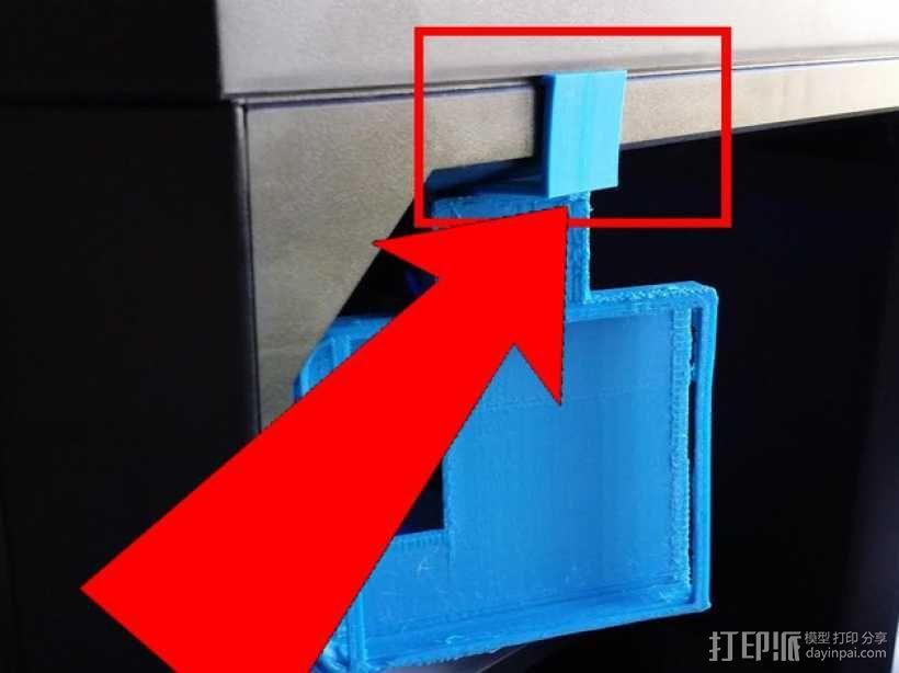 MakerBot 打印机电子控制主板固定器 3D模型  图1