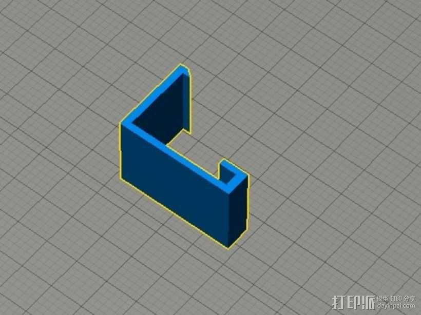 MakerBot 打印机电子控制主板固定器 3D模型  图2