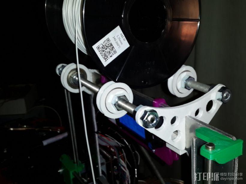 Prusa i3 线轴支架 3D模型  图1