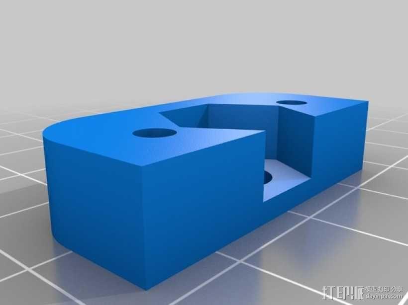 Prusa i3v 打印机Z轴螺母板 3D模型  图1