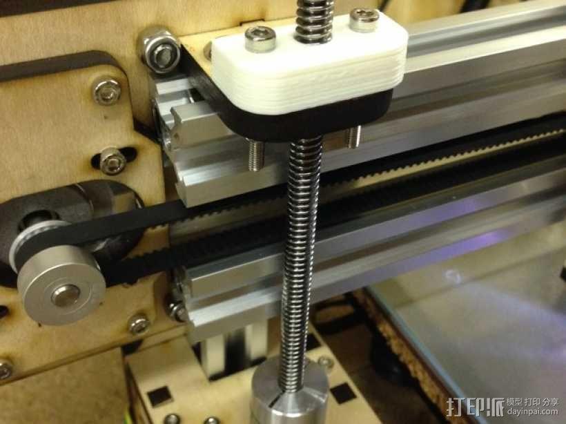 Prusa i3v 打印机Z轴螺母板 3D模型  图2